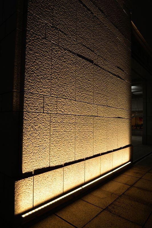 Wall wash lighting dark oak decking paint